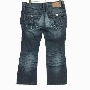 Big Star LIV Cropped Capri Jeans Sz 26 Dark Blue